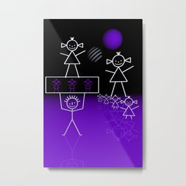 stick figures -31- Metal Print
