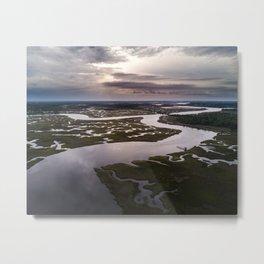 Wallace River Sunset Metal Print