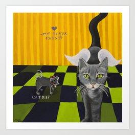 C C loves Catnip Art Print