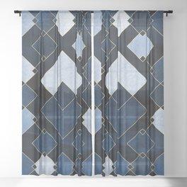 Blue Nebula Sheer Curtain