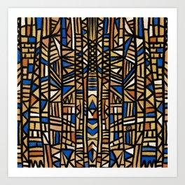 African Mudcloth inspired cloth design Art Print