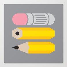 Deconstructed Pencil Canvas Print