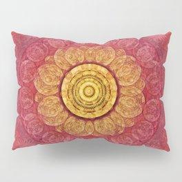 """""""Strawberry pink shades & Gold Mandala (pattern)"""" Pillow Sham"""