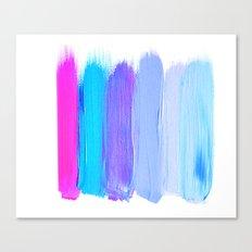 Ombre Brush Strokes Canvas Print