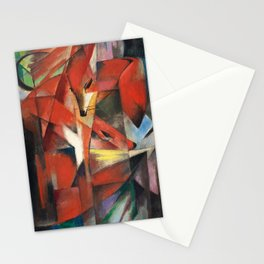 """""""The Foxes"""" by Franz Marc, 1913 Stationery Cards"""