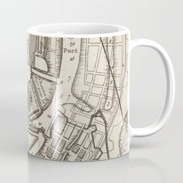 Vintage Map of Copenhagen Denmark (1764) Coffee Mug