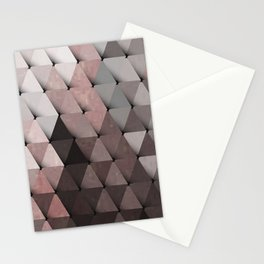 Triangles Putty Mauve Stationery Cards