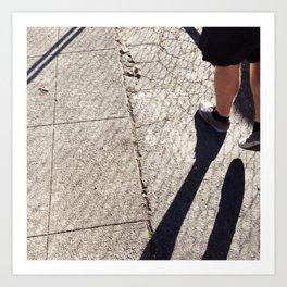 Shoes & Shadows Art Print