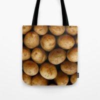 potato Tote Bags featuring Potato Potato by MeatSteed