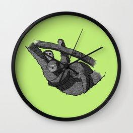 Newspaper Sloths Wall Clock