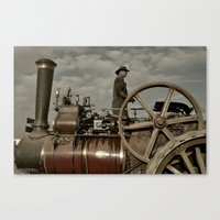 grease Canvas Prints featuring Steam & Grease  by Rob Hawkins Photography