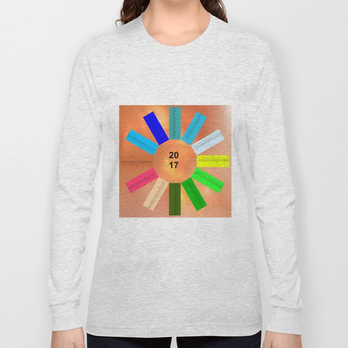 Calendar 2017 en easy star Long Sleeve T-shirt