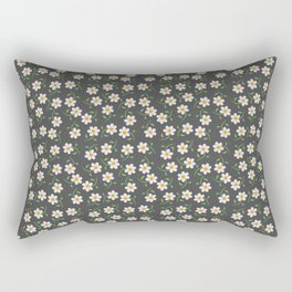 Daisies and Charcoal Pattern Rectangular Pillow