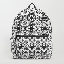 Black and white Hmong elephant print Backpack
