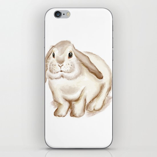 Watercolor Bunny iPhone Skin