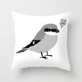 Northern Shrike Throw Pillow