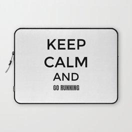 Keep Calm And Go Running, Gift For Runner, Gift For Him, Gift For Her Laptop Sleeve