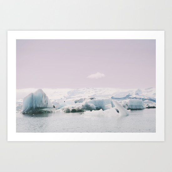 Icebergs XI Art Print