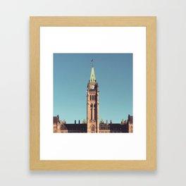 Centre Block Ottawa canada Framed Art Print