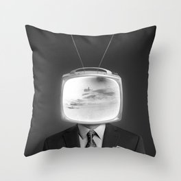 Mr Television Throw Pillow