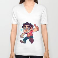 steven universe V-neck T-shirts featuring Steven Universe by lemonteaflower