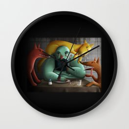 Table for four Wall Clock