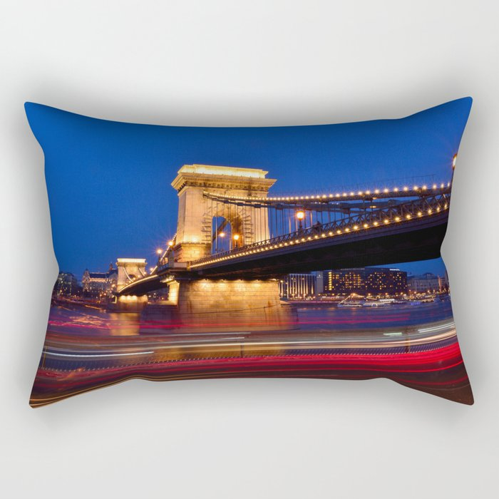 Szechenyi Chain bridge Rectangular Pillow