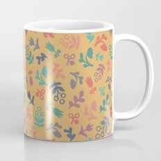 Ditsy Flowers in orange Mug