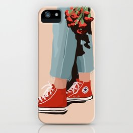 feeling red iPhone Case