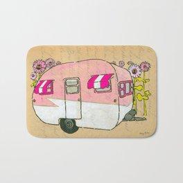 Pink Canned Ham Shasta Trailer Bath Mat
