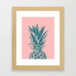 Blush Pineapple Dream #3 #tropical #fruit #decor #art #society6 Framed Art Print
