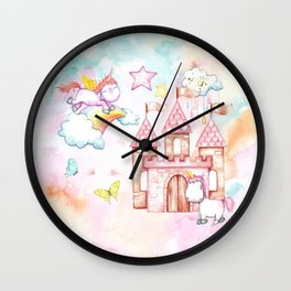 Unicorn Avalon Island Wall Clock