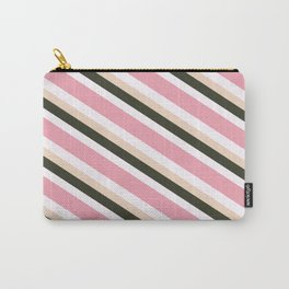 Pink Roses in Anzures 3 Stripes 4D Carry-All Pouch