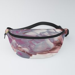 Muted Blue In Bloom Flowers Pop of Color Fanny Pack