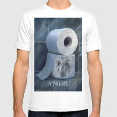 Oh No....  Mens Fitted Tee White MEDIUM