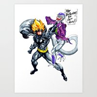 dbz Art Prints featuring DBZ why so serious by Unic art