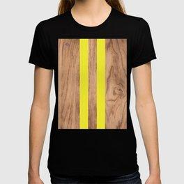 Wood Grain Stripes - Yellow #255 T-shirt