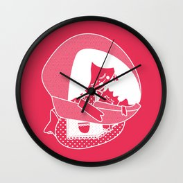 Mexican woman and baby / Mujer mexicana con bebé Wall Clock