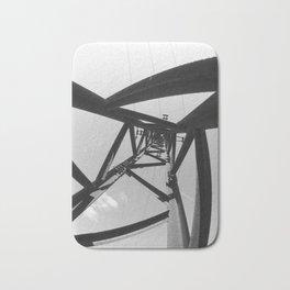 Power pole black and white Bath Mat