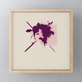 Fizzing Forth Pink Gin Framed Mini Art Print
