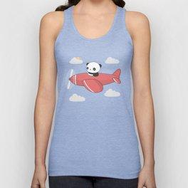 Kawaii Cute Panda Flying Unisex Tank Top