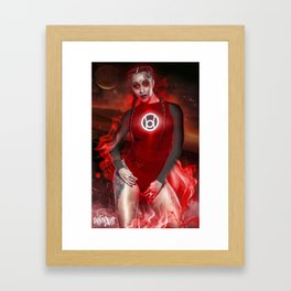 Red Cardi Lantern Framed Art Print