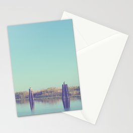 water and pilings Stationery Cards