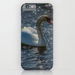 moving swan iPhone Case