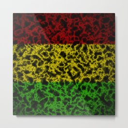 Electric Rasta Metal Print