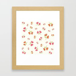 Bell Flowers – Floral Heart Collection Framed Art Print