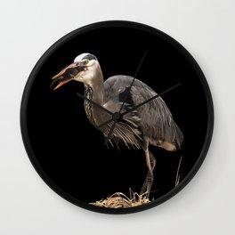 Heron Eating the Mole Wall Clock