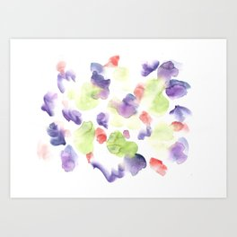 170722 Colour Loving 12  |Modern Watercolor Art | Abstract Watercolors Art Print