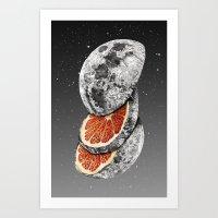 lunar Art Prints featuring Lunar Fruit by J.P Ormiston