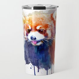 Red Panda Portrait Travel Mug